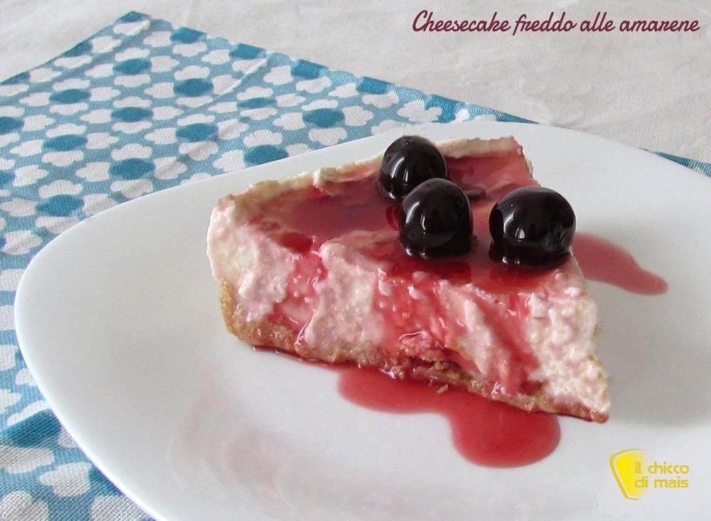 Cheesecake freddo alle amarene ricetta facile il chicco di mais
