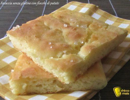 Focaccia senza glutine con fiocchi di patate