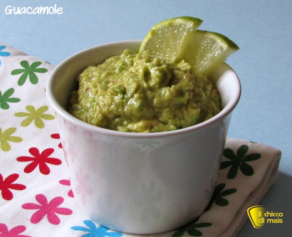 antipasti freddi Guacamole ricetta messicana il chicco di mais