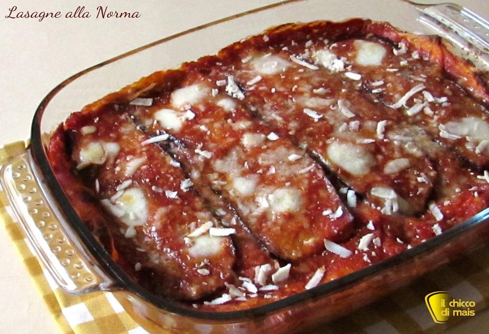 ricette con melanzane lasagne alla norma