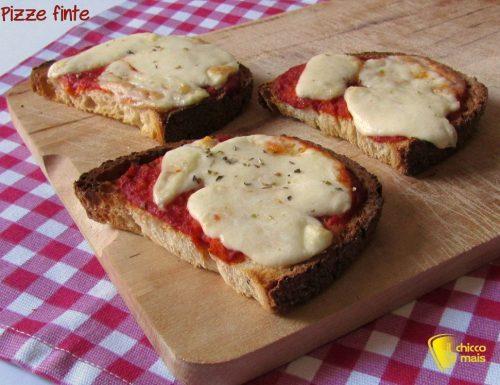 Pizze finte di pane (ricetta del riciclo)