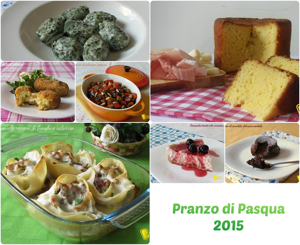 Ricette per il pranzo di Pasqua 2015 il chicco di mais