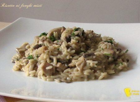 Risotto ai funghi misti (ricetta vegetariana)