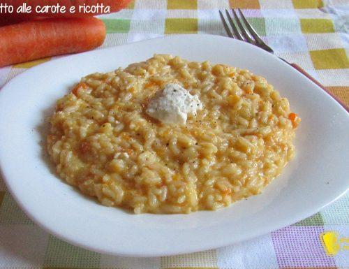 Risotto alle carote e ricotta (ricetta semplice)