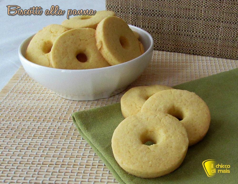 Biscotti alla panna ricetta con e senza glutine il chicco di mais