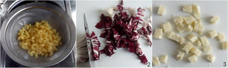 Insalata di pasta in barattolo con radicchio e asiago ricetta il chicco di mais 1
