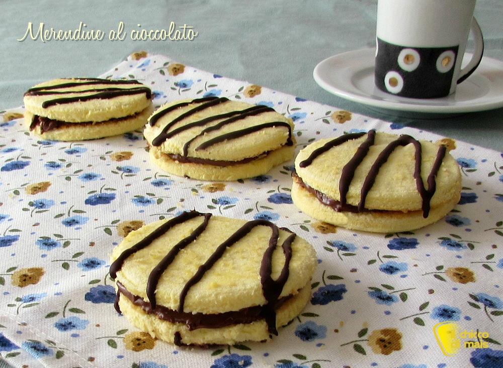 Merendine al cioccolato fatte in casa ricetta passo passo il chicco di mais