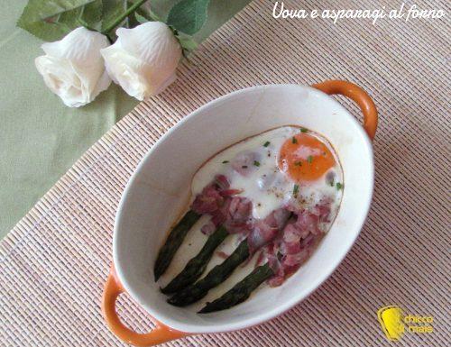 Uova e asparagi al forno (ricetta veloce)