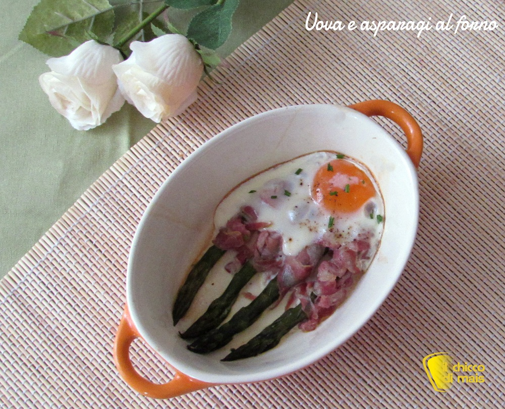 Ricette con asparagi facili e veloci Uova e asparagi al forno ricetta veloce il chicco di mais