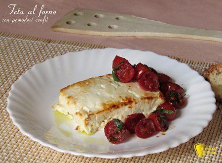 Feta al forno con pomodori confit, ricetta