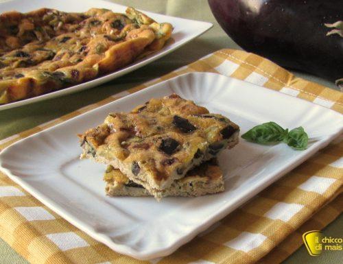 Frittata con melanzane e basilico, ricetta