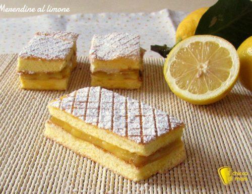 Merendine fatte in casa al limone, ricetta