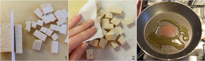 Tofu al pomodoro su riso speziato ricetta vegan il chicco di mais 1