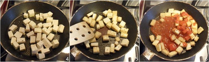 Tofu al pomodoro su riso speziato ricetta vegan il chicco di mais 2