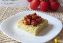 Tofu al pomodoro su riso speziato (ricetta vegan)
