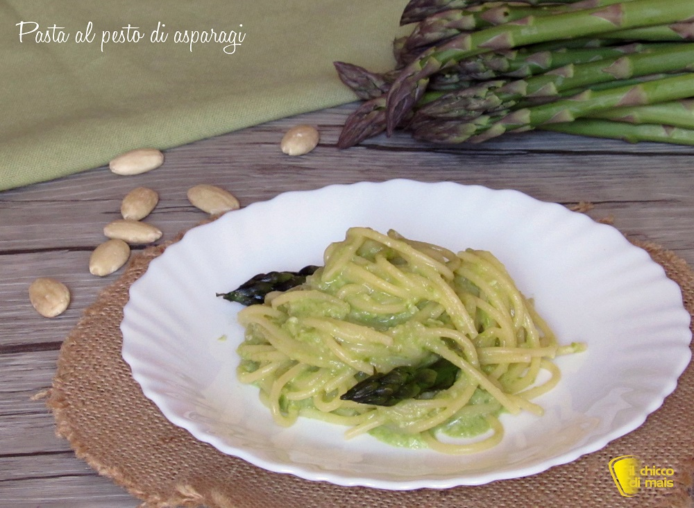 primi veloci pasta al pesto di asparagi ricetta facile e veloce il chicco di mais