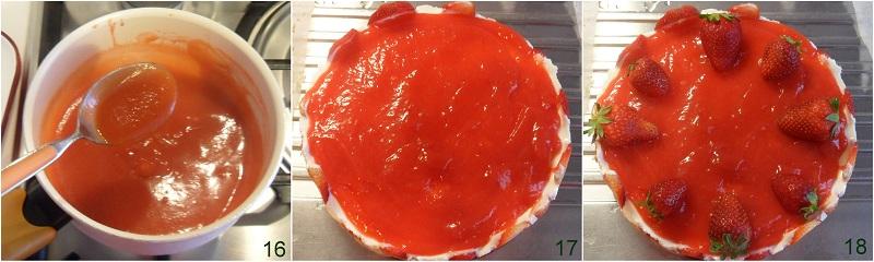 Cheesecake freddo alle fragole con copertura cremosa ricetta il chicco di mais 6 guarnire la cheesecake