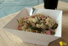 Insalata di riso con zucchine al balsamico