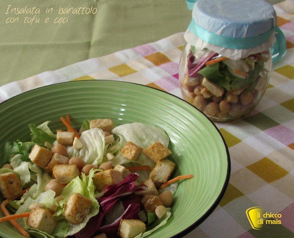 Insalata in barattolo con tofu e ceci ricetta vegan il chicco di mais