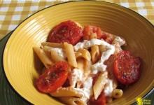 Pasta con burrata e pomodori confit, ricetta