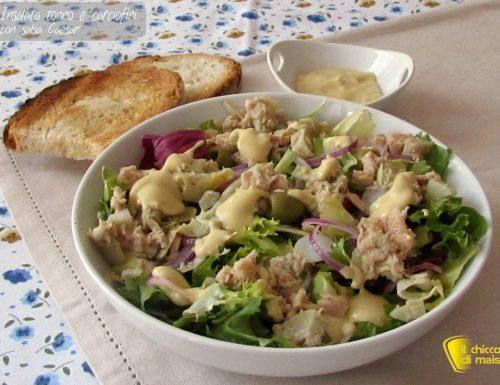 Insalata di tonno e carciofini con salsa Caesar