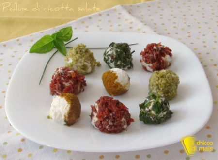 Palline di ricotta salate, ricetta senza cottura