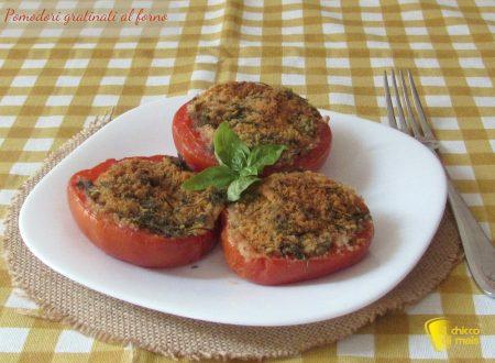 Pomodori gratinati al forno, ricetta