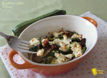 Zucchine al forno con feta, ricetta