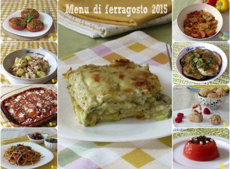 Menu di ferragosto 2015, ricette per il pranzo di ferragosto