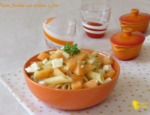 Pasta fredda con melone e feta, ricetta veloce