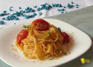 primi veloci pasta bottarga ricetta il chicco di mais