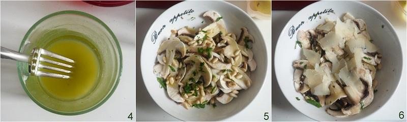 Insalata di funghi crudi con grana e pinoli ricetta il chicco di mais 2