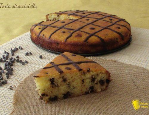 Torta stracciatella con ricotta e gocce di cioccolato, ricetta