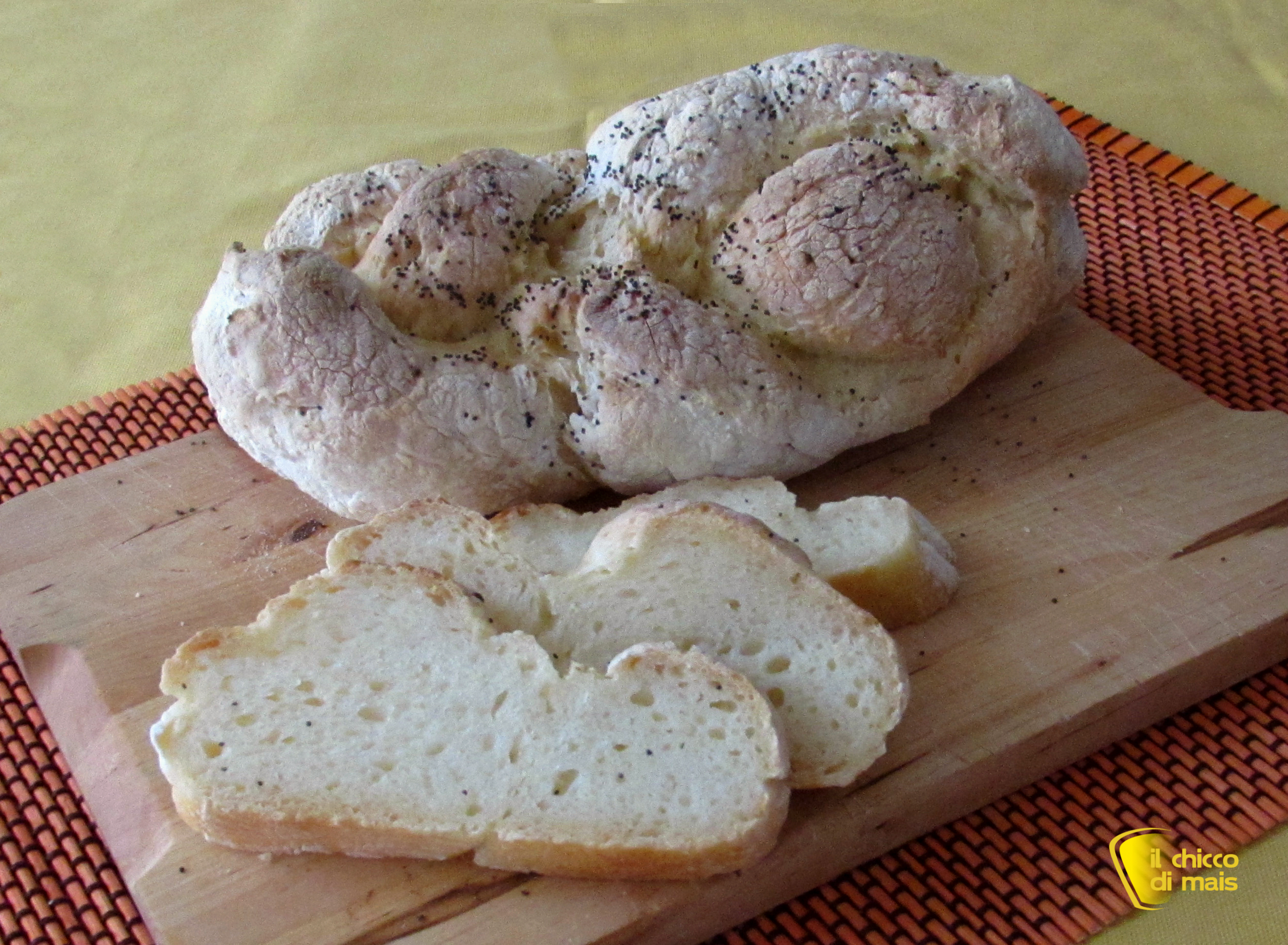 Trecce di pane senza glutine ricetta il chicco di mais