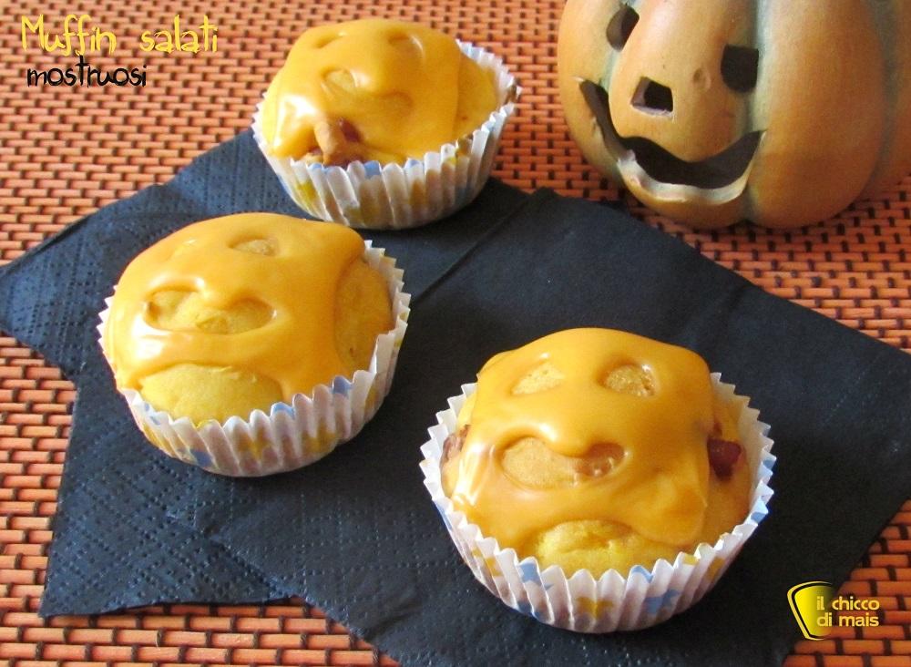 Muffin mostruosi ricetta per Halloween il chicco di mais