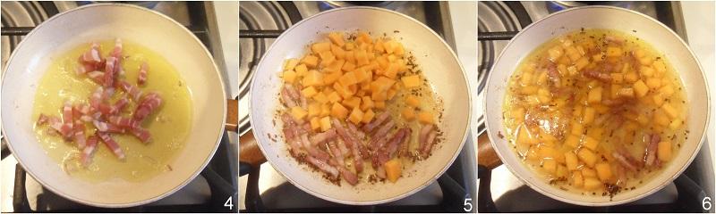 Pasta zucca e pancetta ricetta il chicco di mais 2