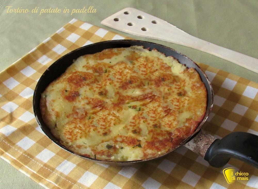 Tortino di patate in padella ricetta semplice il chicco di mais