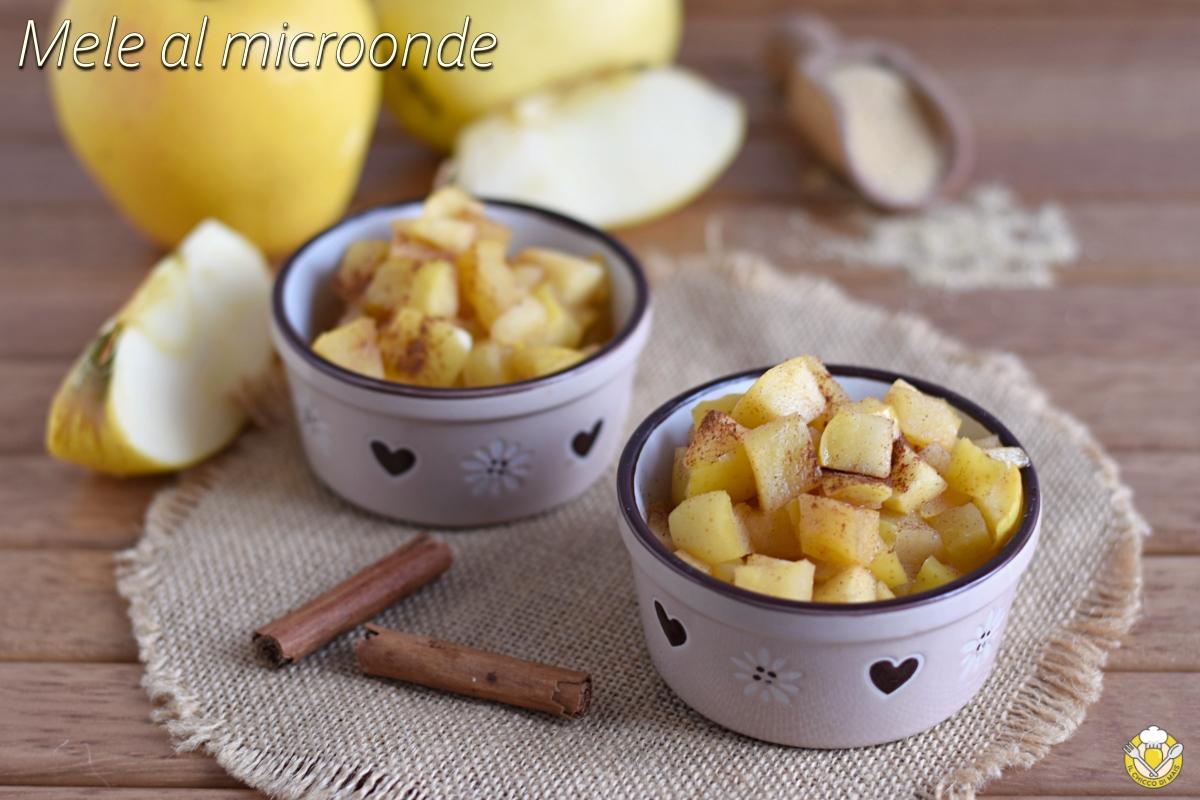 mele cotte al microonde ricetta facile e veloce dolce leggero light sano senza farina o uova il chicco di mais