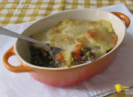 Pasticcio di carne con patate e mozzarella, ricetta