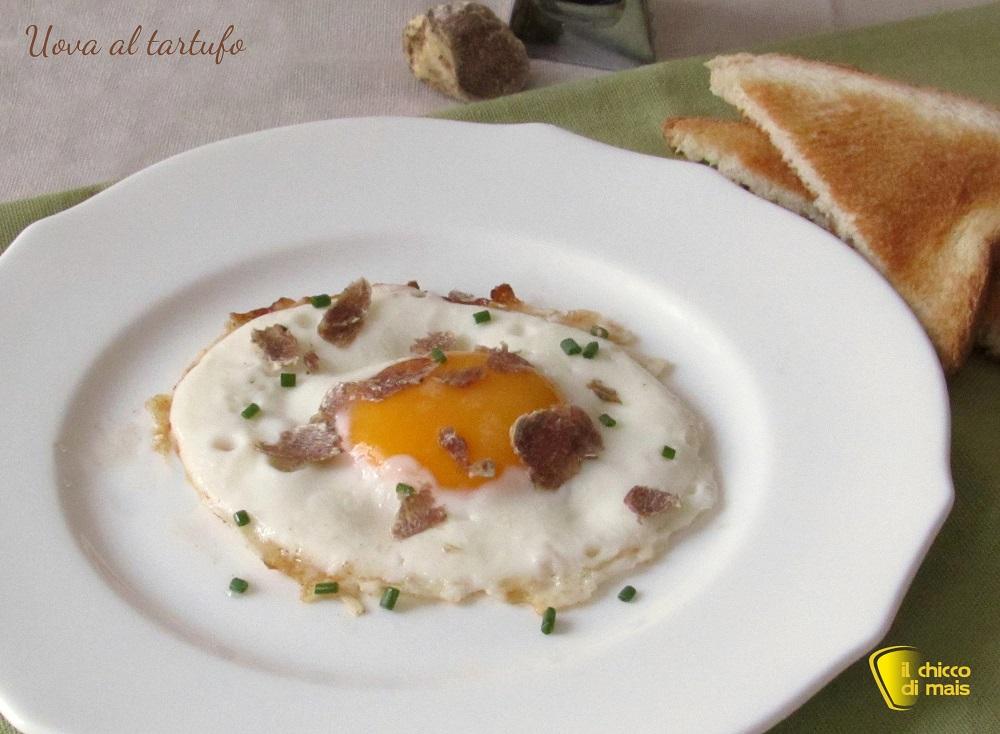 ricette con tartufo nero e bianco Uova al tartufo ricetta il chicco di mais