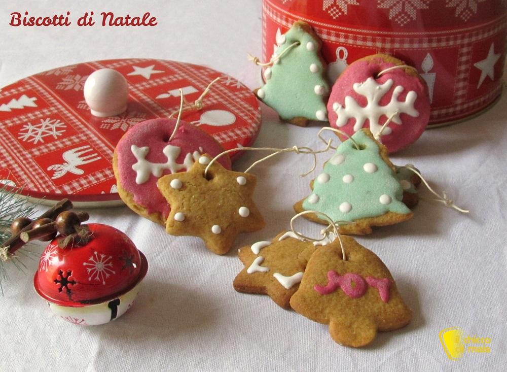 i dolci di natale Biscotti di Natale decorati ricetta il chicco di mais