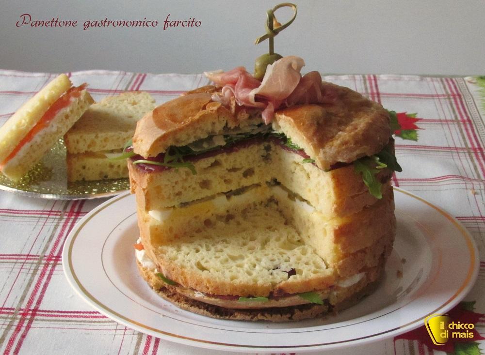 antipasti di natale Panettone gastronomico farcito ricetta il chicco di mais