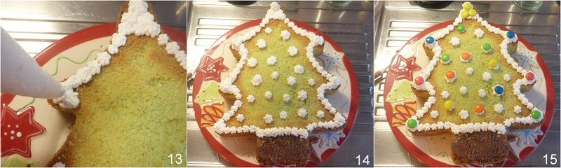 Torta albero di Natale decorata ricetta il chicco di mais 5