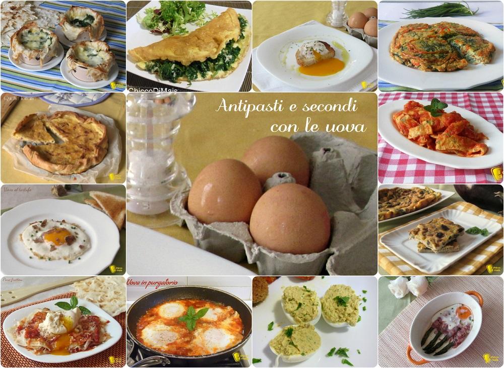 Antipasti e secondi con le uova, ricette