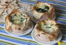 Cestini di carasau agli spinaci, ricetta con video