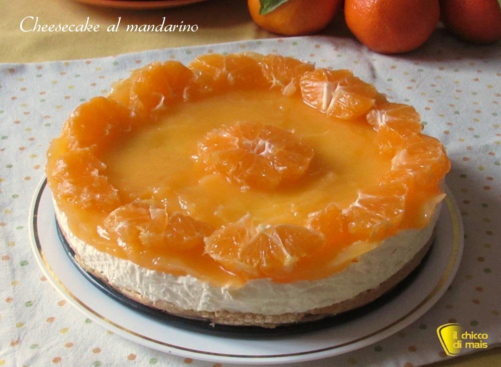 cenone di natale Cheesecake al mandarino ricetta senza cottura il chicco di mais