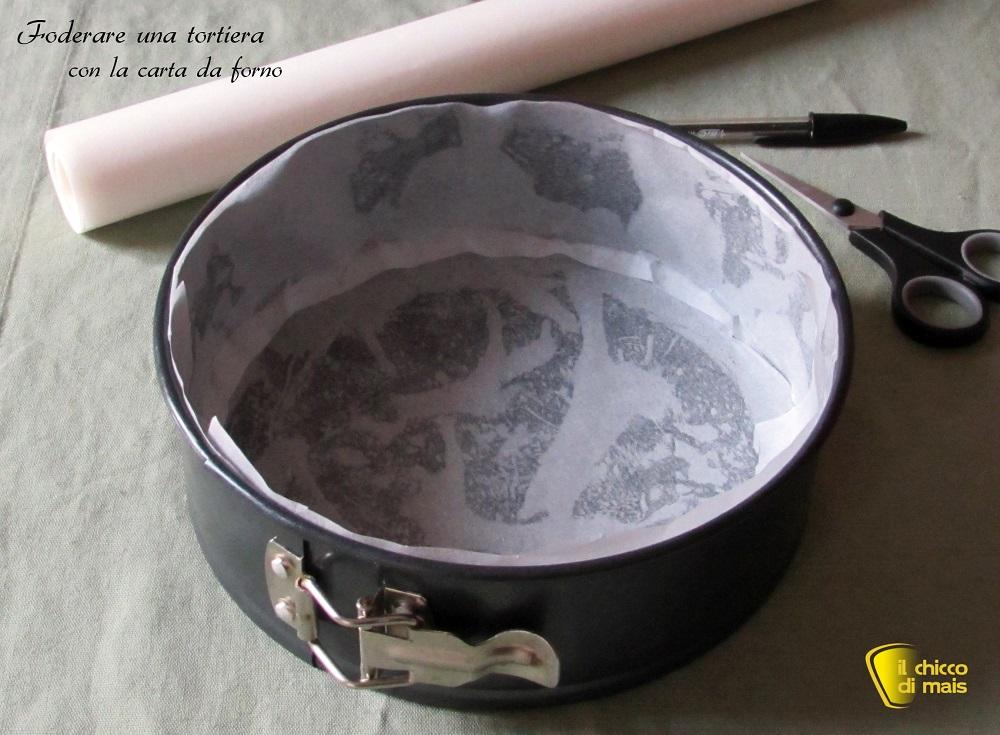 Foderare una tortiera con carta da forno tutorial il chicco di mais