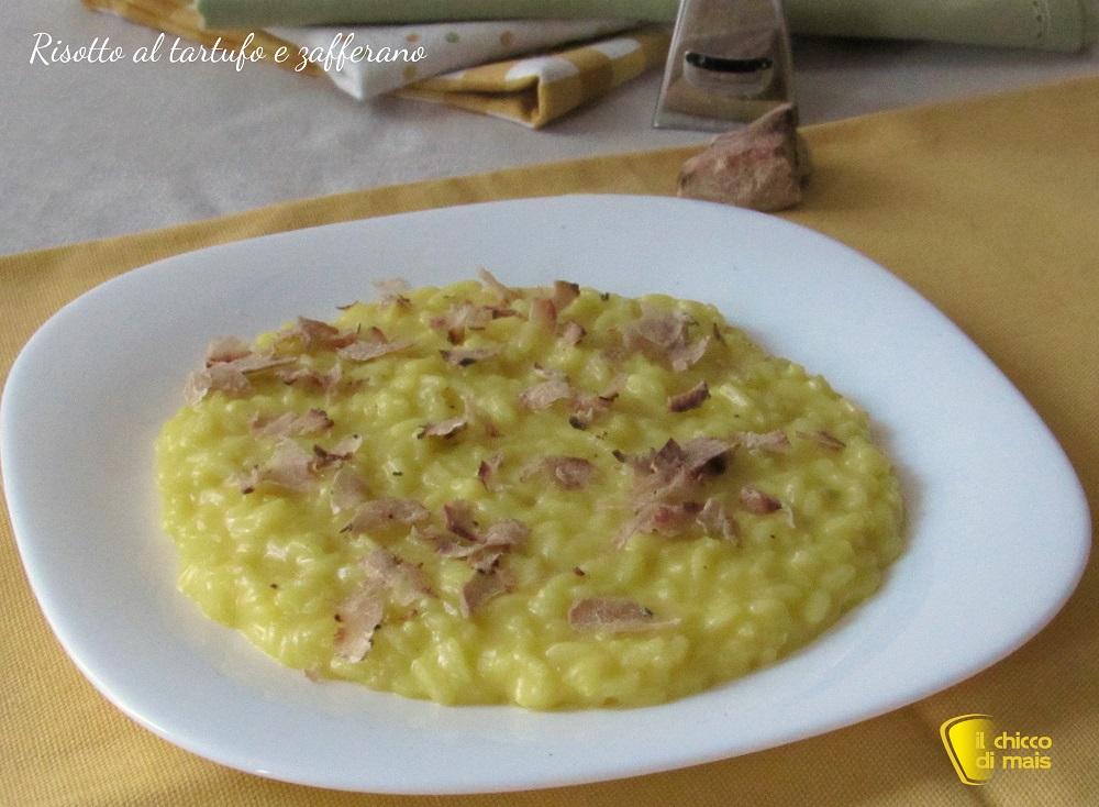 ricette con tartufo Risotto al tartufo e zafferano ricetta il chicco di mais
