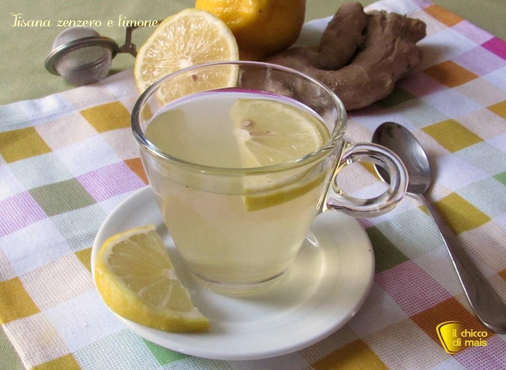 Tisana zenzero e limone depurativa e digestiva ricetta il chicco di mais