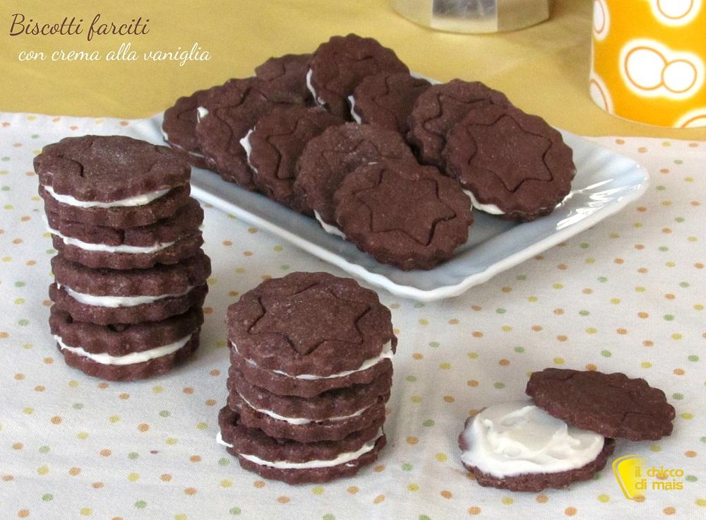 Biscotti farciti con crema alla vaniglia ricetta il chicco di mais